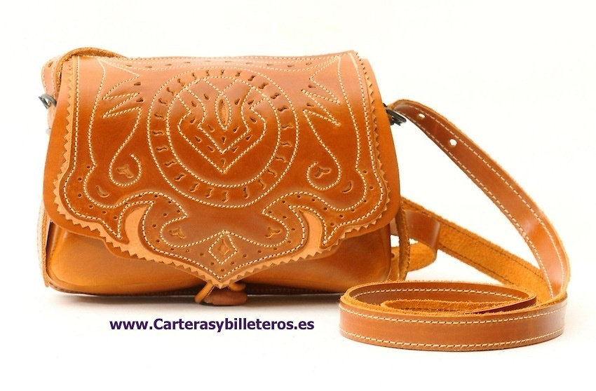 OILED LEATHER BAG LEATHER TRIM QUALITY AND WORKED