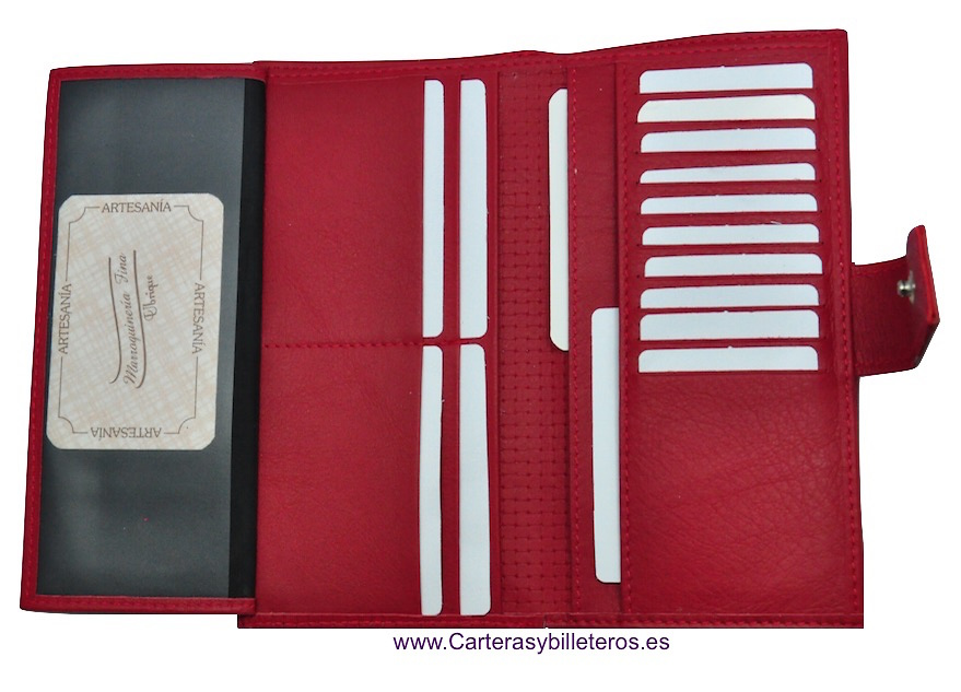 PORTAFOGLIO DONNA IN PELLE NAPA CON GRANDE CARTA -5 colores-