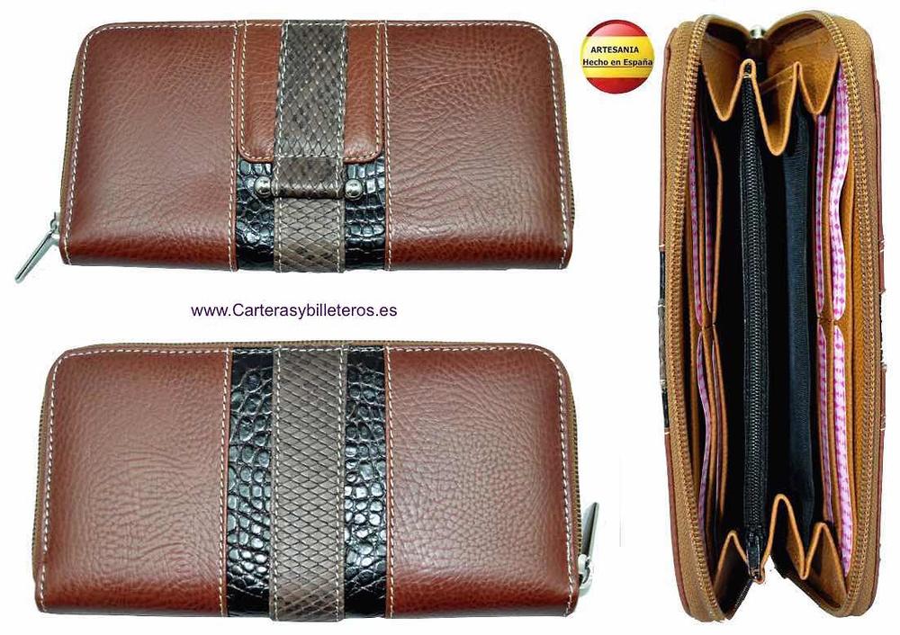 b02c9d5cd5 portafoglio in pelle donna di sopra fatto en Spagna