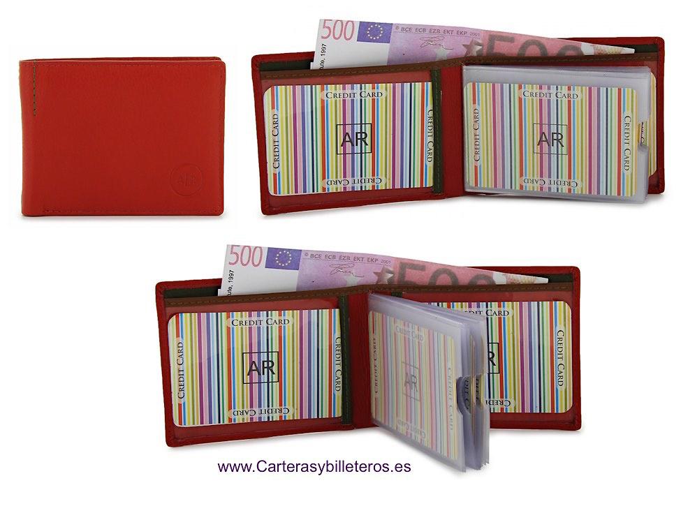 porte cartes portafogli in pelle di lusso con dodici carte di credito