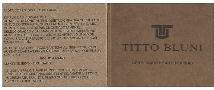 PORTAFOGLIO UOMO TITTO BLUNI PELLE DI LUSSO CON CHIUSURA STERNA