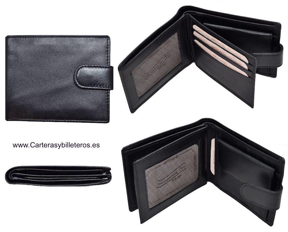 portefeuille de homme porte cartas en cuir fait en espagne. Black Bedroom Furniture Sets. Home Design Ideas