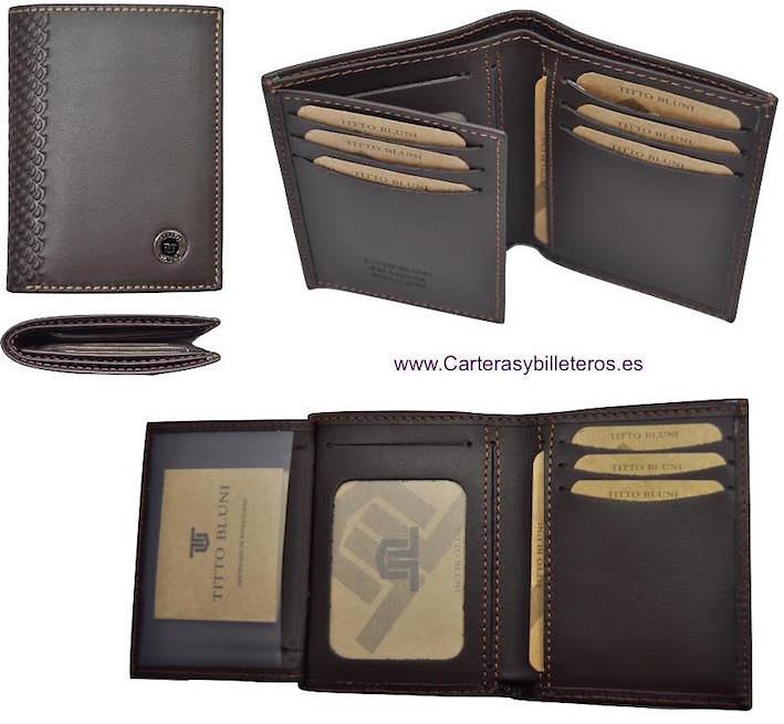 Portefeuilles l 39 homme marque titto bluni de cuir luxe - Porte carte cuir homme luxe ...