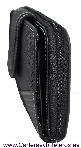 PURSE WALLET FOR WOMEN LEATHER AND CARBON FIBER GRANDE