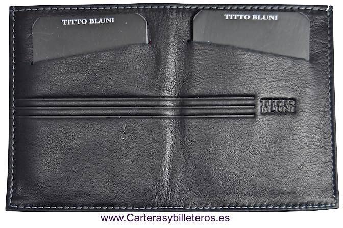 TARJETERO BILLETERO PIEL TITTO BLUNI MUY DELGADO