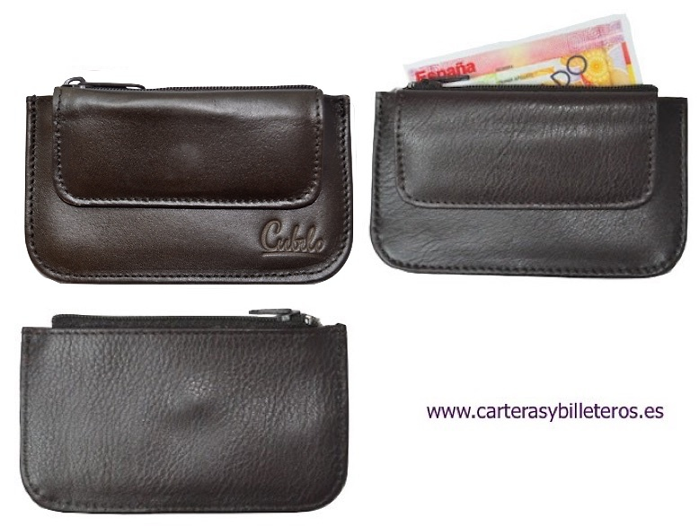 UBRIQUE LEATHER PURSE WITH TWO POCKET CARD HOLDER