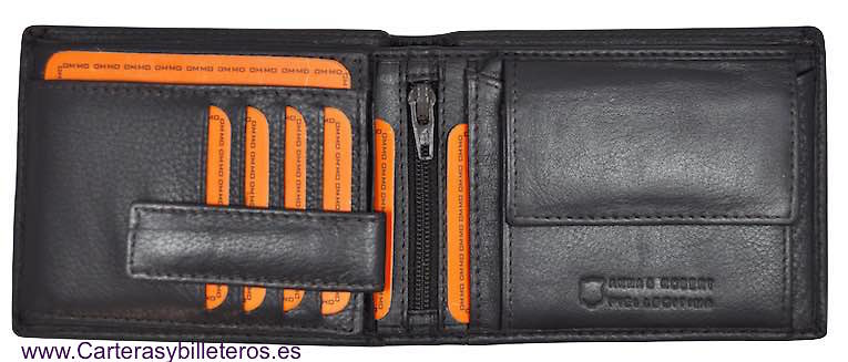 WALLET AND PURSE OF MAN IN LEATHER NAPA LUX