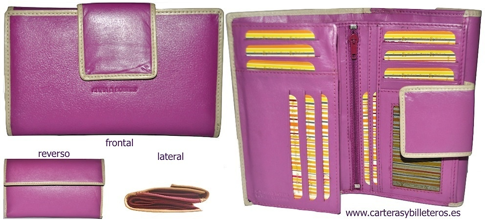 WALLET CARD WITH LEATHER PURSE NAPALUX