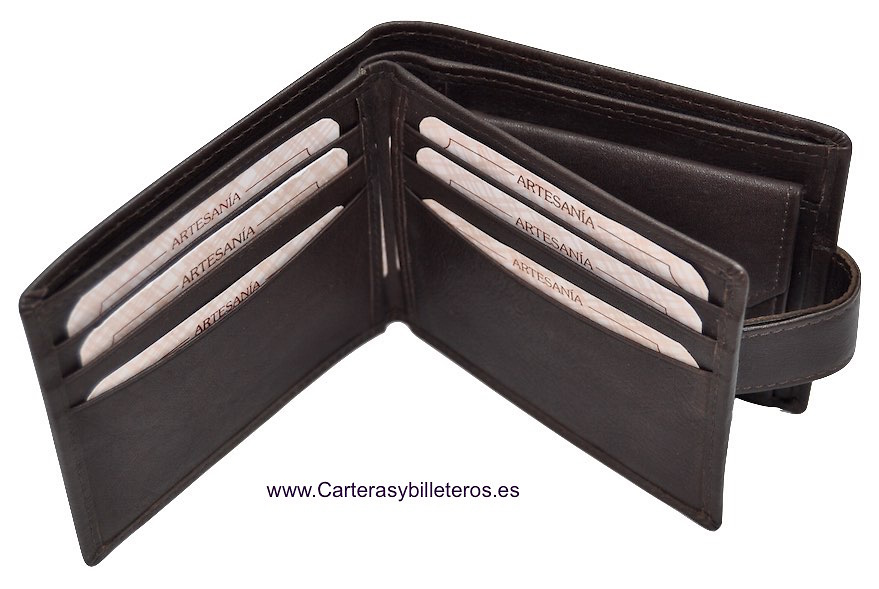 WALLET MAN CARDFOLDER AND BILLFOLD EXTRA-FINE QUALITY SKINE