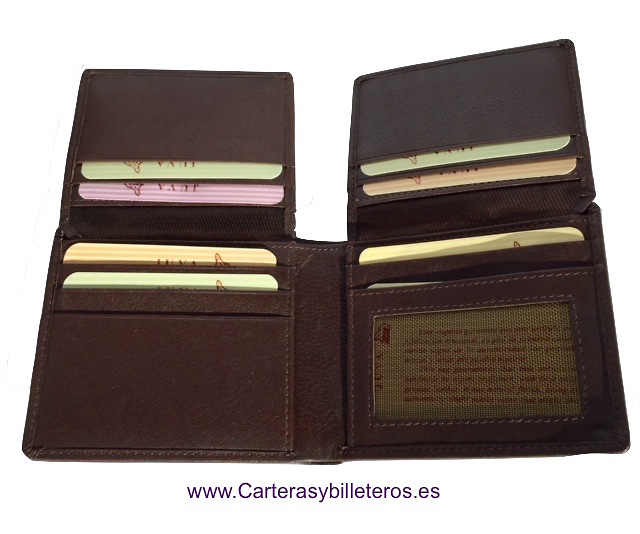 WALLET MAN FOR 19 CREDIT CARDS MADE IN LEATHER