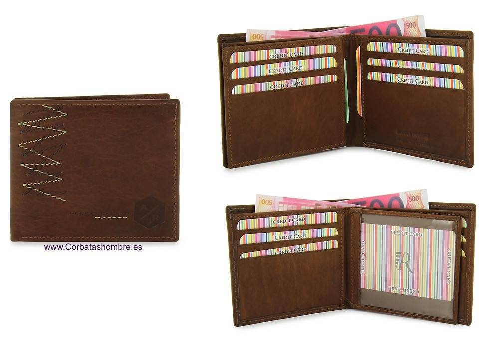 WALLET MAN WITH CARDBILLFOLD VERY COMPLETE IN LEATHER