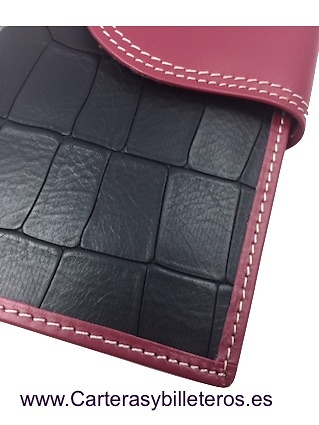 WALLET OF WOMAN SKIN OF COCO MADE IN SPAIN HANDCRAFT LONG