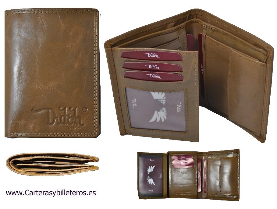 WALLET PURSE FACT IN LEATHER FOR MAN OF THE DUTH BRAND
