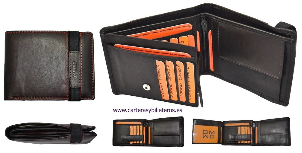 WALLETS WITH ELASTIC CLOSURE WITH LEATHER PURSE