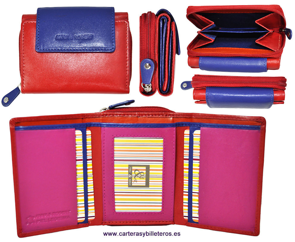 WOMEN´S WALLET WITH PURSE MADE IN LEATHER VERY COMPLETE