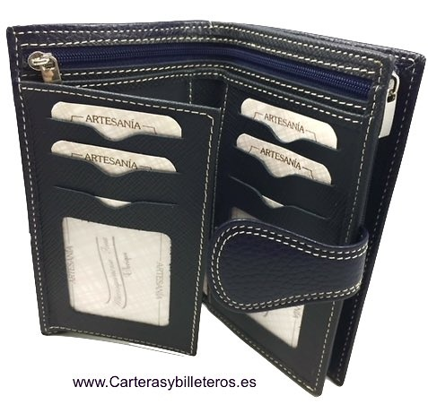 WOMEN'S BIG LEATHER WALLET WITH BEARS