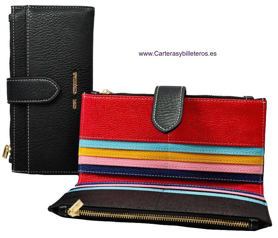 WOMEN'S LONG WALLETS PU - SET OF 2 -