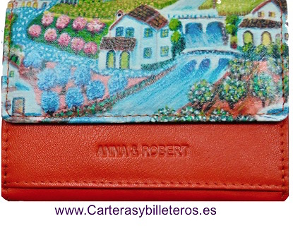WOMEN'S WALLET WITH PURSE WITH IMPRESIONIST PAINTING