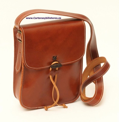 82800eb99871 LEATHER BAG SMALL UNISEX OLD LEATHER