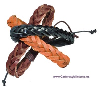 ADJUSTABLE BRAIDED LEATHER BRACELETS