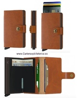 ALUMINUM WALLET AND CARD HOLDER AUTOMATIC EXTRACTION