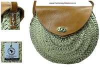 AUTHENTIC LEATHER BAG AND BRAIDED PLATE LEAVES