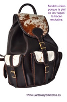 BACKPACK LEATHER AND EXCLUISIVE COW LEATHER