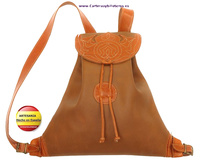 BACKPACK LEATHER AND LEATHER MADE IN SPAIN HAND MADE