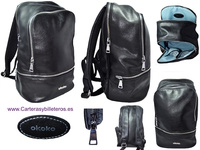 BACKPACK URBAN  MADE IN FEATHER WITH THREE COMPARTMENTS AND TWO POCKETS