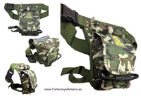 BAG TO CARRY IN THE WAIST SUPPORTED IN THE LEG OF CAMOUFLAGE