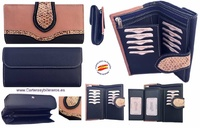 BIG WOMEN WALLET IN UBRIQUE NAVY SKIN AND MAKEUP COLOR