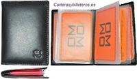 BUSINESS CARD HOLDER IN PELLE NAPA QUALITÀ 8 CARTE LUX