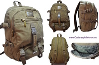 CANVAS BACKPACK EXTRA STRONG WITH 9 POCKETS AND BELTS