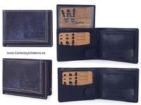 CARD FOLDER EFECCT CLOTH BLUEJEANS - IT'S AUTHENTIC SKIN-