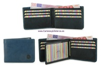 CARD FOLDER LEATHER WALLET CARD TWO TONE
