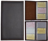CARD FOR DESK LEATHER FOR 60 CARDS CAPACITY