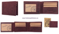 CARD HOLDER MAN WALLET IN MATTE FINISHED LEATHER