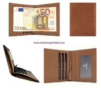 CARD HOLDER WALLET WITH CLIP FOR LEATHER CLIPS TICKETS