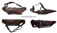 CARRYING BAG FOR HIP LEATHER AND WAIST ADJUSTABLE