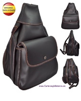 COW LEATHER BAG BACKPACK THREE ENTRANCES