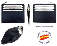 CUBILO BRAND EXTRA-FINE LEATHER PURSE CARD HOLDER 6 CARD