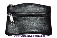 ECONOMIC LEATHER PURSE WITH ZIP