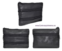 ECONOMICAL LEATHER PURSE WITH 4 POCKETS