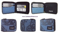 FABRIC WALLET CARRIER WITH WILDZONE PERIMETRICAL ZIPPER CLOSURE
