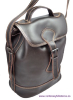 HAND BAG WITH HANDLE AND LEATHER SHOULDER BAG