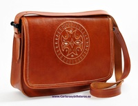 HIGH QUALITY CALFSKIN LEATHER BAG WITH FLAP TRIM
