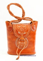 HIGH QUALITY LEATHER BAG WITH DOUBLE BRAIDED BAG