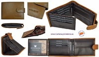 LEATHER AND LEATHER MAN WALLET MARK TITTO BLUNI