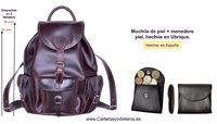 LEATHER BACKPACK WITH UBRIQUE LEATHER PURSE