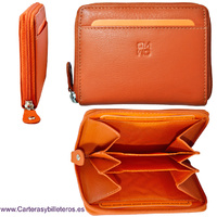 LEATHER BILLFOLD WITH  PURSE ACCORDION